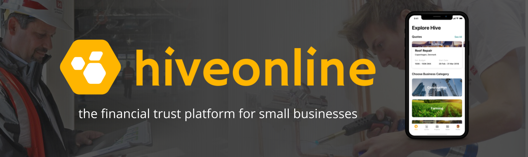 hiveonline - the financial trust platform for small businesses
