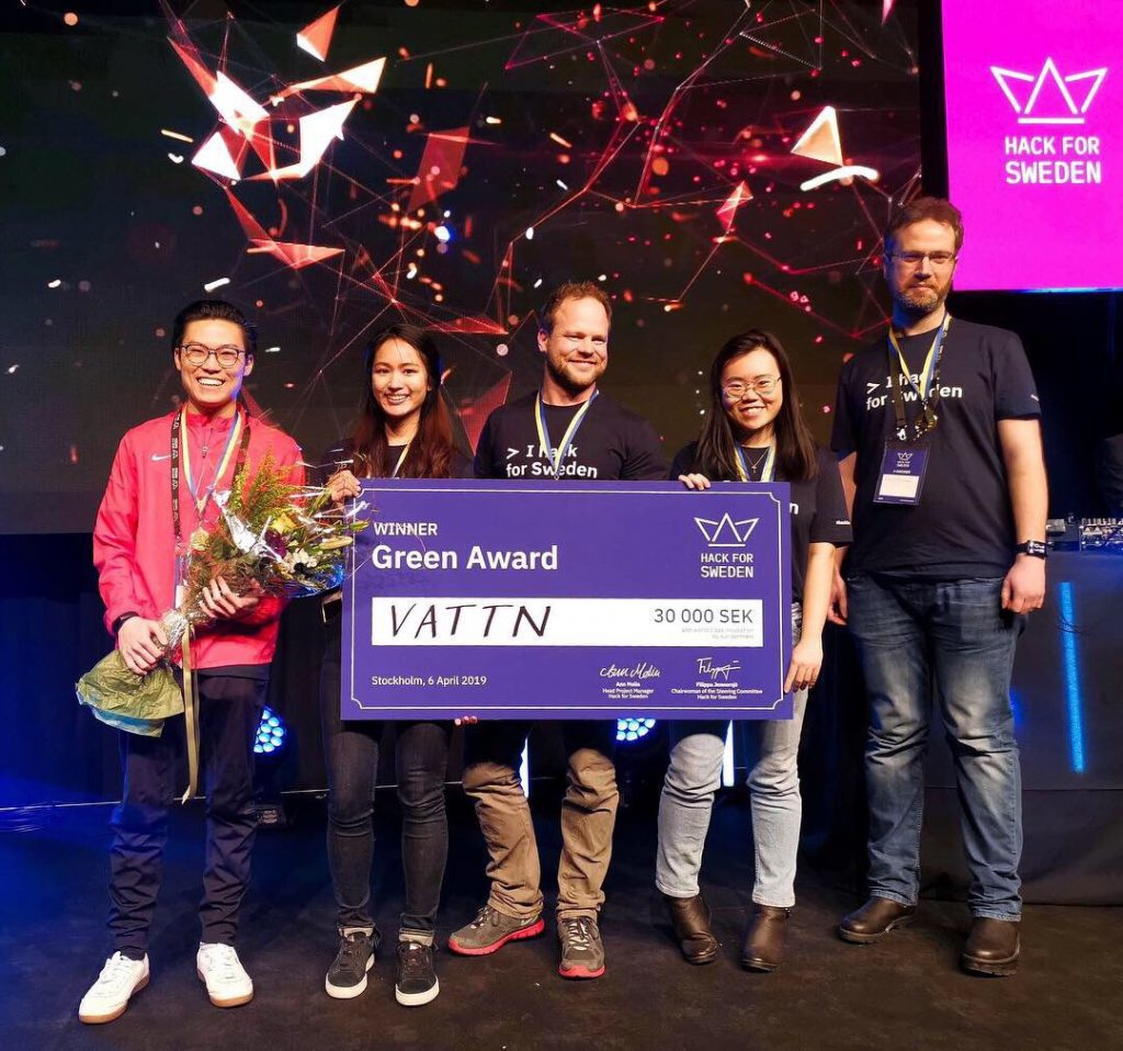 Yanisa clinched first place in the Environment category, winning the Green Award at Hack for Sweden.