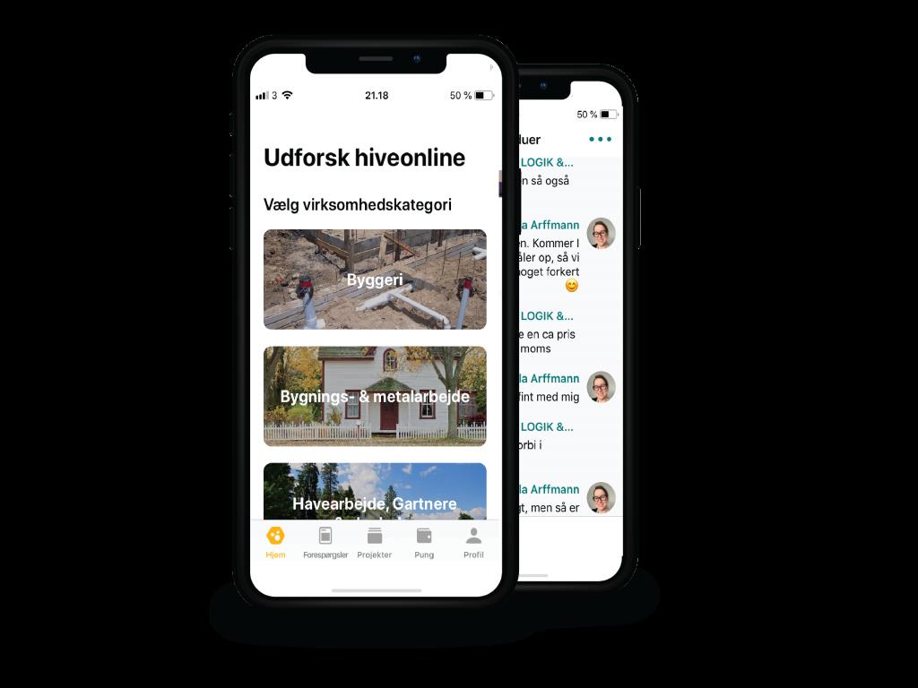 hiveonline Nordic Construction Industry iOS app
