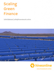 Scaling green finance