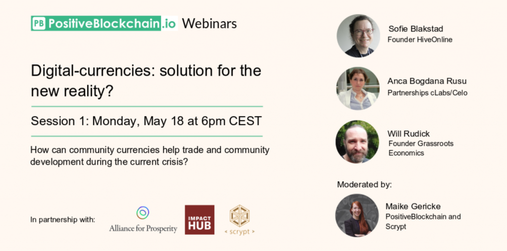 Join hiveonline for the @PositiveBlockchain Webinar on Monday, 18 May 1