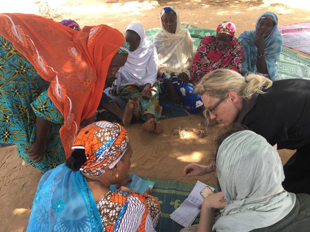 group of women during a savings meeting