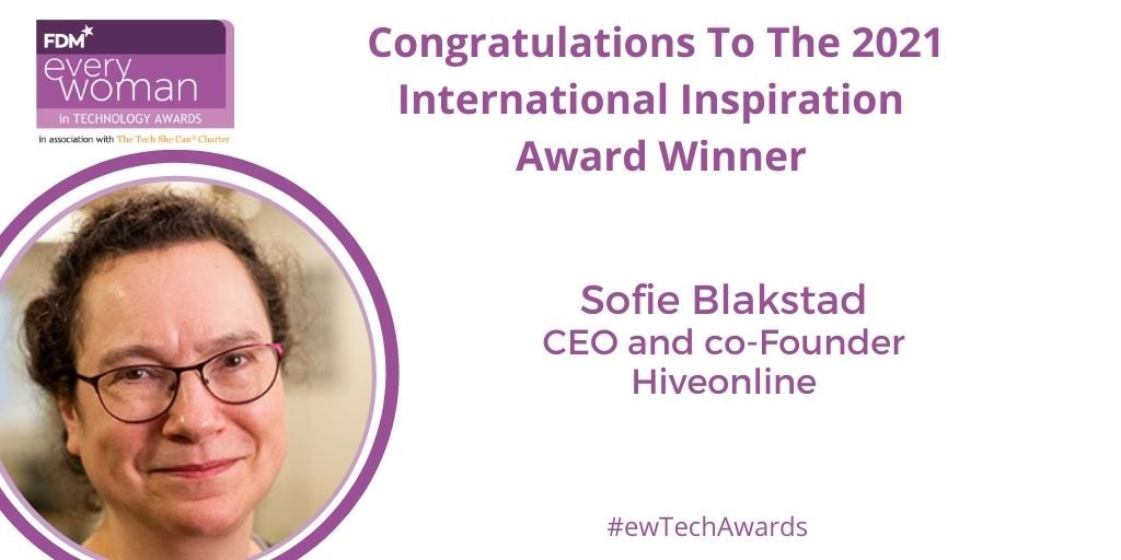 CEO Sofie Blakstad Wins FDM Every Woman In Technology Award! 1